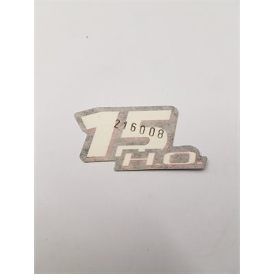 Decal 15HO front / rear Evinrude