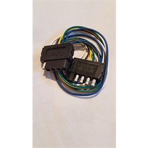 5-way flat connector with 2' extension harness